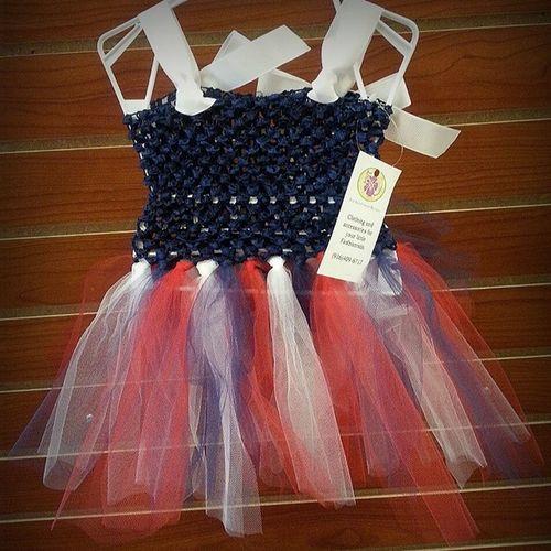 All ready for 4th of July! LilyKate Tutu Patriotic Redwhiteblue
