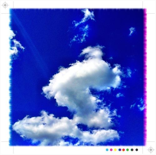Process Project IPhoneography Blue Blue Sky Hello World Sky Clouds Clouds And Sky Sky And Clouds White