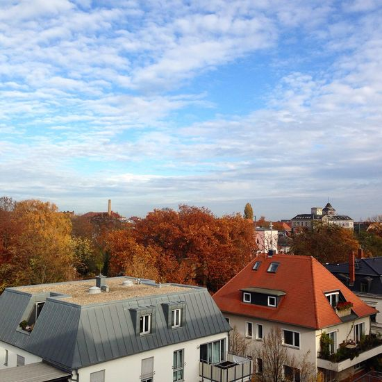 Leipzig Sky Clouds And Sky Green City LE-City Autumn Autumn Colors