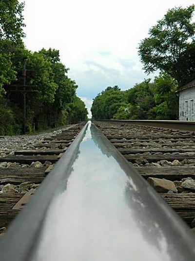 Train Tracks Trees Long Road Followyourheart Leadtheway Tracks Rocks