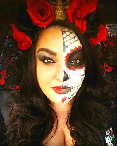 Day of the Dead event... this is culture it is not Halloween Beauty Dayofthedead Diademuertos Untildeath Love Culture Mexican Roses History Makeup Portrait Close-up Religion And Tradition Religion Catholic Diadelosmuertos Diadelosmuertosmakeup Diadelosmuertosfestival Death