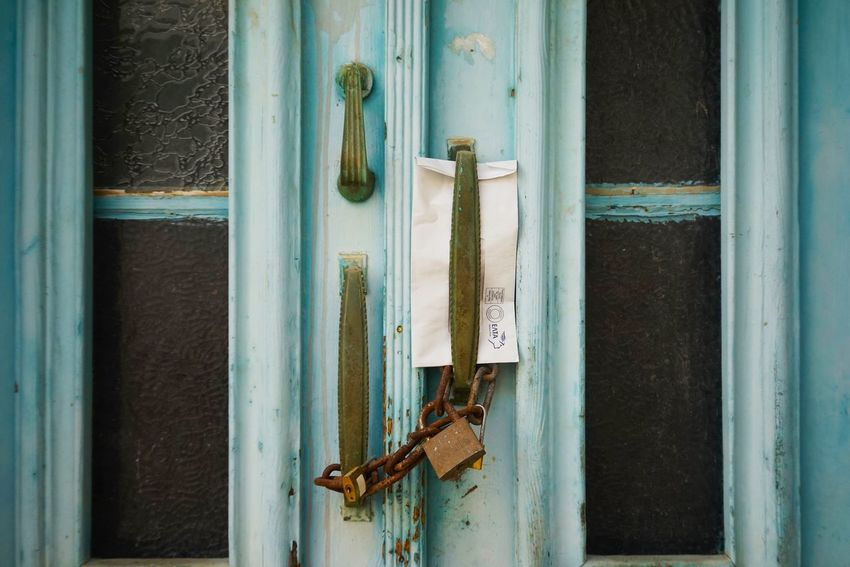 Letter Door Metal Entrance Rusty Old Day Wood - Material Weathered No People Closed Damaged Decline Security Protection Safety Run-down Close-up Outdoors Lock