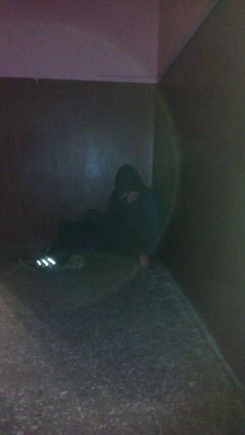 Indoors  Playing Men Sitting Focus On Shadow Dark Circle Geometric Shape