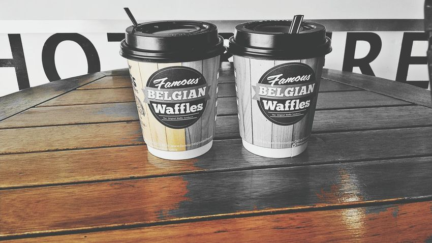 Colorsplash Partners Hot Chocolate & Waffle Respect For The Good Taste From Where I Stand EyeEm Hello World Belgian Waffles
