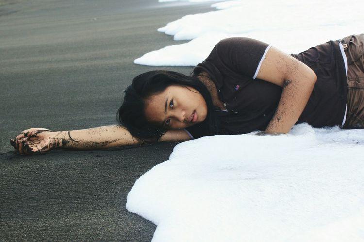 EyeEm Selects Beauty Sand Day Outdoors Beach Eyeemphoto Taking Photos PortraitPhotography One Person EyeEm Gallery The Week On EyeEm Photographylovers Visualsoflife EyeEm EyeemPhilippines Beauty In Nature Water