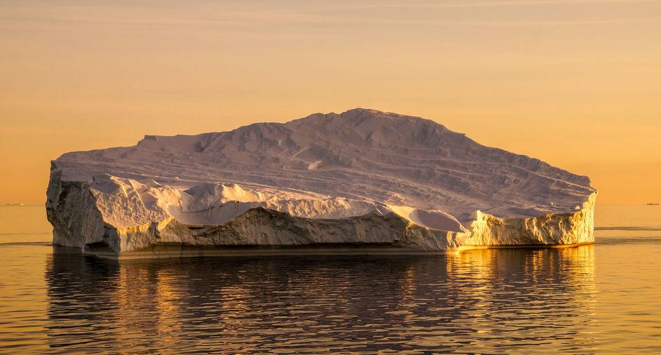 Icebergs in Iceland. Ice Icebergs Ilulissat Sunset_collection Fjord Glacier Glacierr Iceberg Iceberg - Ice Formation Icefjord Ocean Sunrise Sunrise_sunsets_aroundworld Sunset Water