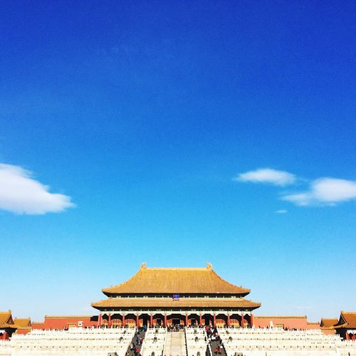 View Of Forbidden City Against Blue Sky
