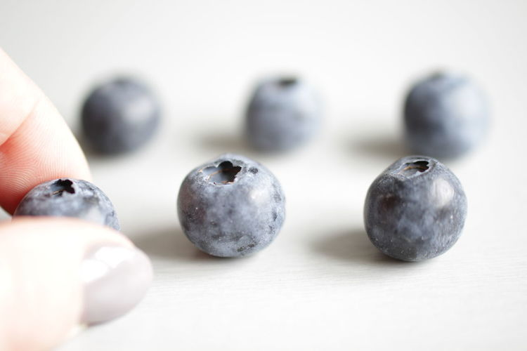 Close-up of blueberries