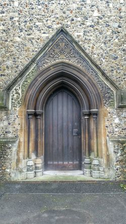 Stone Detail Flint Stone Wall Chelmsford Cathedral Architectural Detail Stone Medieval Architecture Church Arches Timber Door Doorway Gothic Arches Quoins