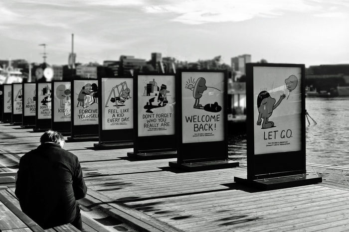 Artistic Black Blackandwhite Bnw_collection Bnw_friday_eyeemchallenge Candid Candid Photography City Life Cityscapes Depth Of Field Monochrome Monochromeart Ocean Portrait Selective Focus Sign