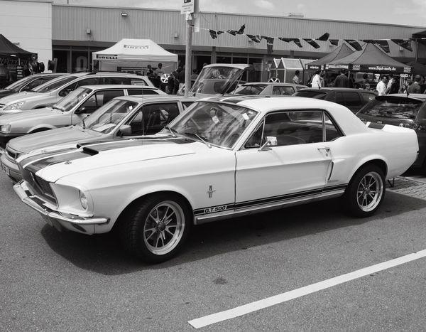 Ford Mustang Oldtimer Blackandwhite