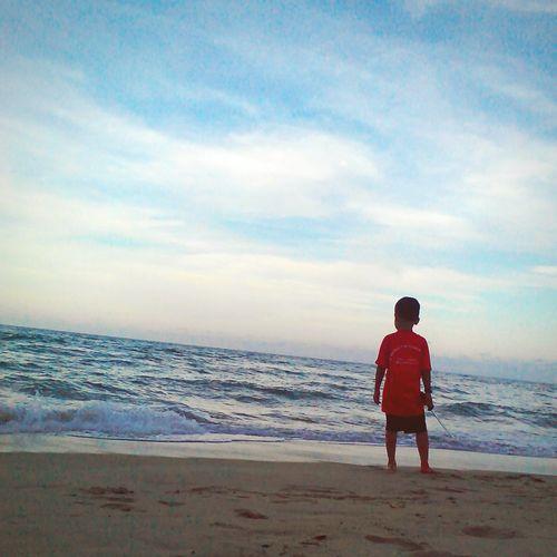 TheLast Hang Tuah.... Hello Sky Love Beaches Ma Cute Little Cousin