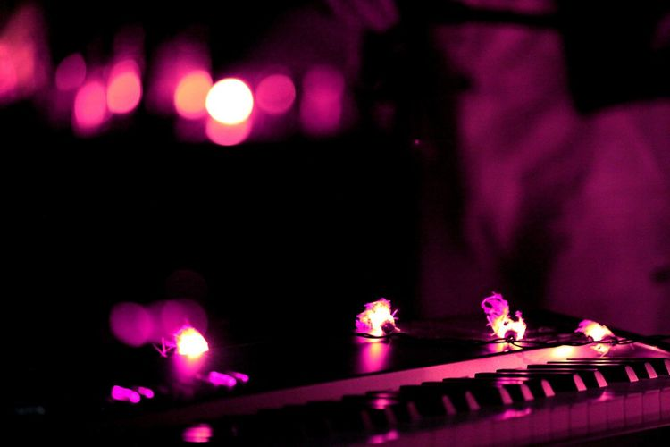 Illuminated Night Nightlife No People Close-up Instrument Instruments Piano Lamp Lamplight Lampions Atmospheric Mood Ambiance Ambient Light Ambient Outdoors EyeEmNewHere Millennial Pink Exploring Fun
