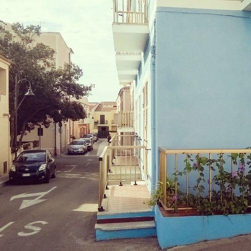 Sardegna Sardinija Italija Italy Street Blue 1 Vacation Hot
