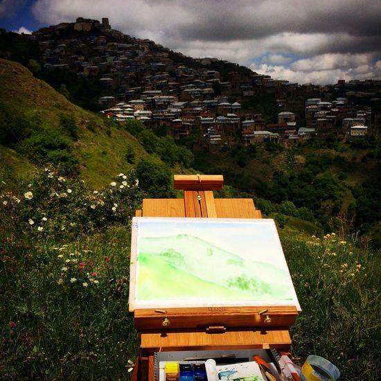 Art Relaxing Watercolor Drawing