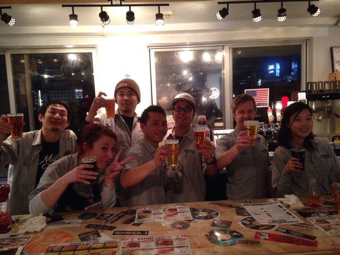 Antennaamerica アンテナアメリカ 横浜 Yokohama 関内 Kannai Beer ビール スタッフ勢揃い!周年、おめでとうございます