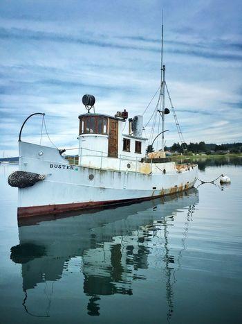 Enchanting evening Fisherman's Harbor Lopez Island Boat Island San Juan Islands Reflection Buster Bay Ship