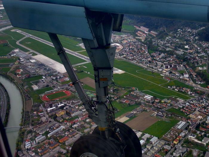 Gegenanflug auf Landebahn 08 Aerial View Austria Austrian City Day Elevated View Flughafen No People Outdoors Tourism Travel Destinations