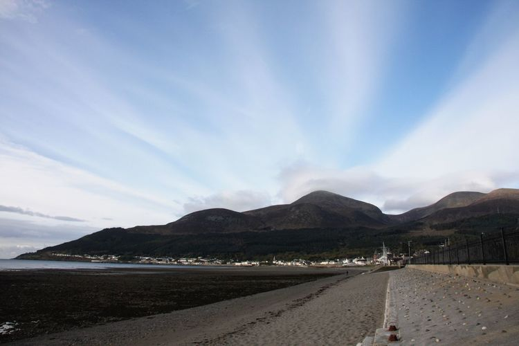 Beautiful fresh morning Cloud - Sky Clouds Amazing Scenery Scenery Shots Slieve Donard Sky Mountain Land Cloud - Sky Scenics - Nature Nature Beauty In Nature Water Day Beach Transportation Tranquil Scene Incidental People Group Of People Mountain Range Sand Tranquility Road Outdoors