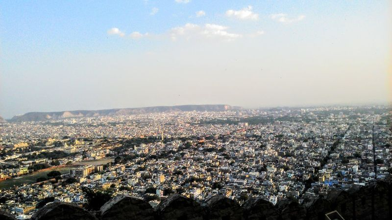 City From Top Fortclick Architecture Topview Jaipurcity Mountain Range Go Higher City Cityscape Urban Skyline Sky Architecture Cloud - Sky