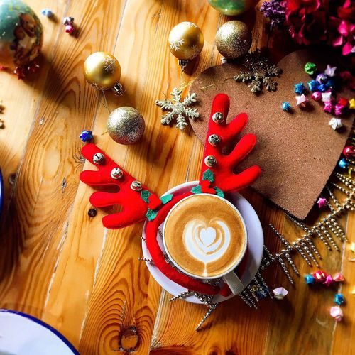 Handmade For You Antler ears for that extra jingle this Christmas DIY with cotton, bells and a headband Accessory Antler Coffee Coffee Break Latte
