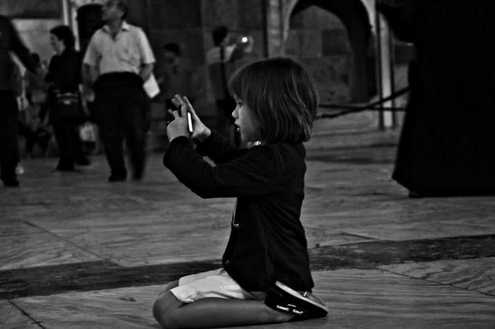 Istanbul Blackandwhite Kids Ayasofya Walking Around Streetphotography