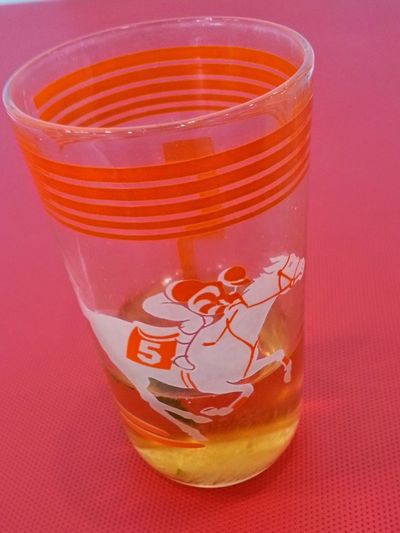 Vintage Glass Horse Race Vintage Glassware LeaveYourPrintOnTheWorld Antique Drink Drinking Glass No People Food And Drink Red Close-up Indoors