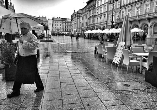 Blac&white  Street Photography Rain Pepole