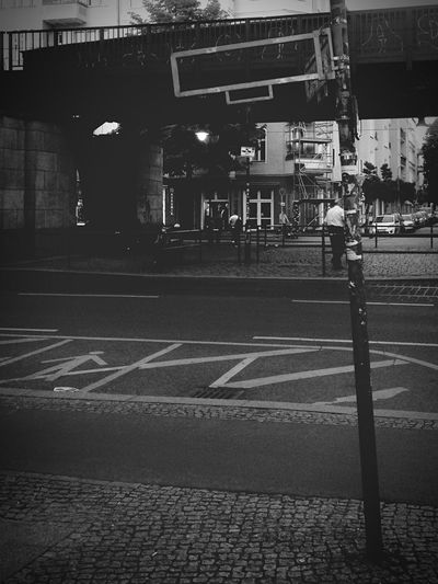 Noname Streetphotography Streetphoto_bw Missing Details Road Marking Street Architecture Road City Blackandwhite Monochrome Berlin Lifestyles Cityscape Berlin Photography