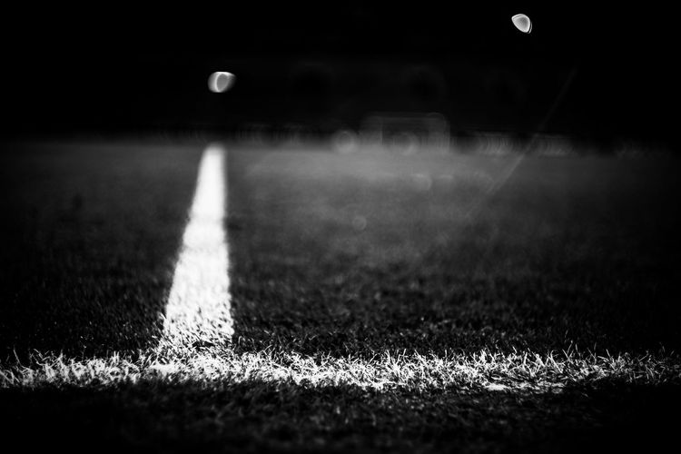 Corner marking on soccer field of borussia-park