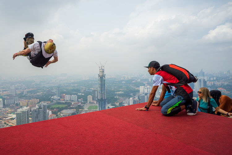 A BASE jumpers