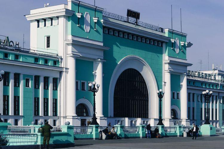 Building Architecture Palace Railway Station Novosibirsk Novonikolayevsk Siberia Russia