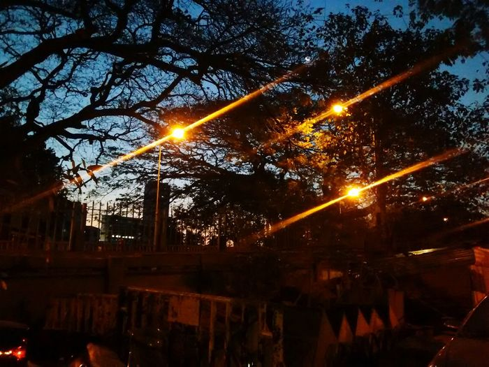 First Photo Of The Day Street Lights ....morning glory...unadulterated pic