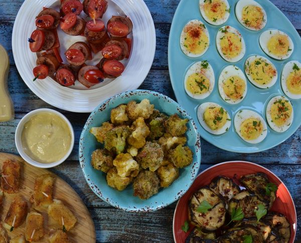 Summer appetizers and mustard dip High Angle View Table Meat Plate Ready-to-eat Freshness Food Food And Drink Indoors  No People Day (null)Beautiful Close-up Treat Enyoing Daylight Appetizer Appetizers Tasty Blue Table Rustic Cheese Delicious Vegetables
