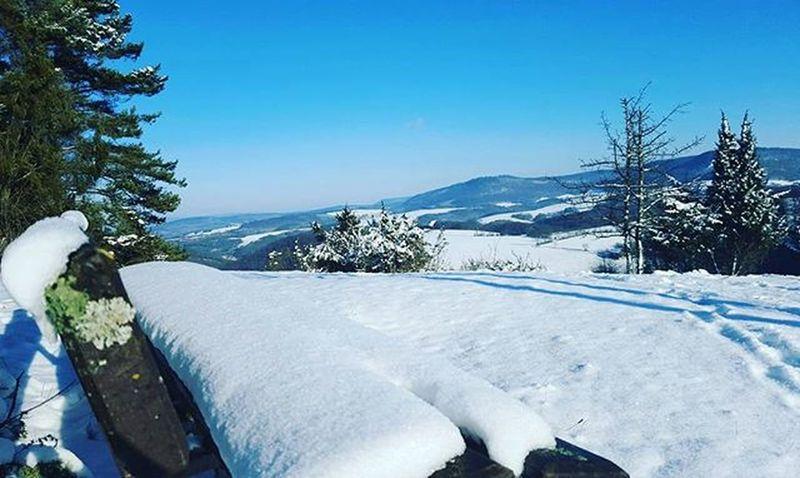 Tolles Nordhessen Winter Bluesky Nordhessen Schnee Natur Kassel Wandern Wintersun