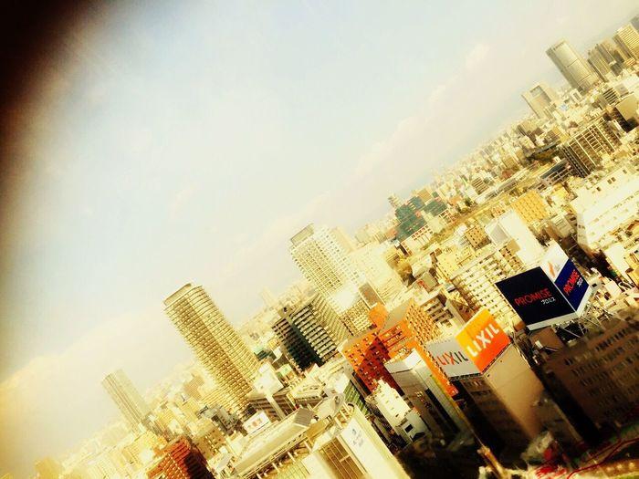 大阪旅行 大阪 HEP FIVE 観覧車 ビル風景