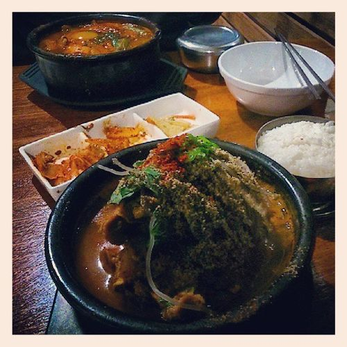 Perhaps the most comforting Korean stews southwest of Eastwood , perfect for a rainy Wintry night...