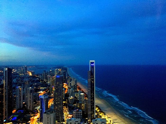 On top of the Gold Coast! Cityscape Sky City Skyscraper Building Exterior Outdoors Cloud - Sky Architecture Illuminated Urban Skyline Night No People Travel Destinations Modern Beauty In Nature Mountain Nature Australia Gold Coast Beach Beachlife Nightsky
