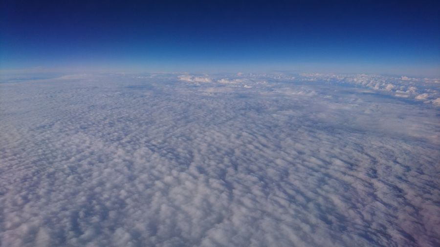 Sea of clouds. Europe Clouds Sea Of ​​clouds Clouds Above The Clouds Clouds And Sky Stratosphere Blue Beauty In Nature Beauty Simplicity Flying Airplane Aerial View Planet Earth Blue Satellite View Sky Landscape Cloud - Sky