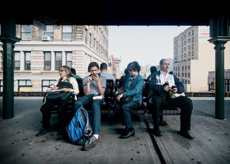 The Wait- 125th Street 125th Street~ NYC NYC Street Photography NYC LIFE ♥ NYC Street Manhattan Empirestate Platform Metronorth Metro North MTA Commute Sony A6000 Samyang 12mm F2