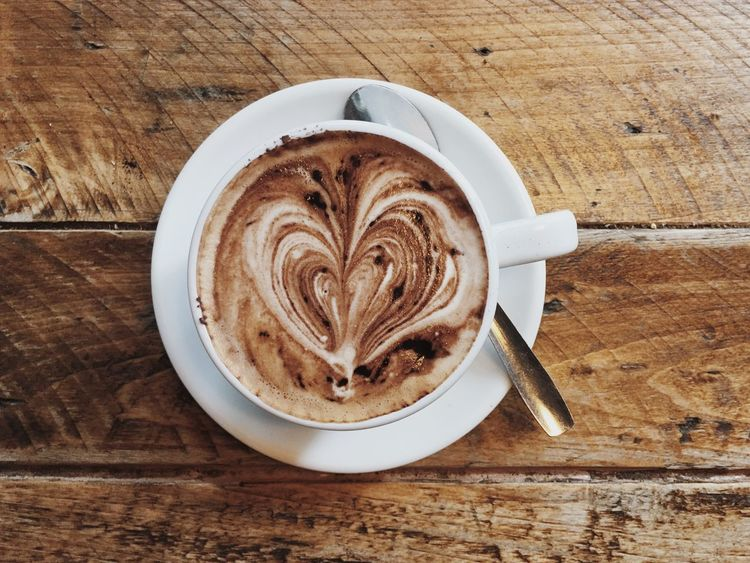 Food Stories Coffee Coffee Cup Wooden Table Onmytable Table Cafe