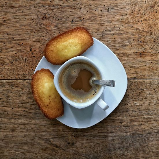 Espresso & Madeleines. Coffee Food Snack Time! Home