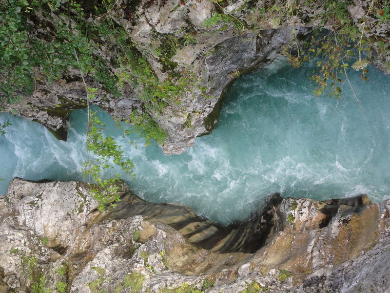 Beauty In Nature Blue River Geology Majestic Nature Nature Power In Nature Reka Soča River River Soča, Slovenia Rock Rock Formation Scenics Stream Structure Structure And Nature Tranquil Scene Trip Water Wonderful Landscape With Whitewall