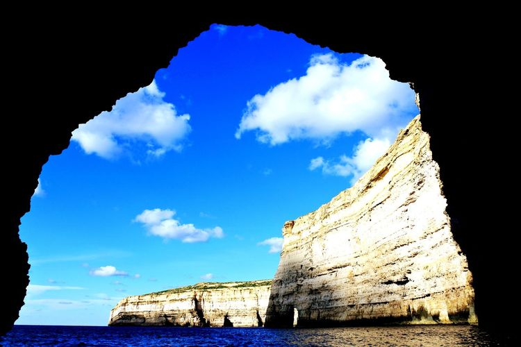 Cave Exit Tunnel Eyeemphotography EyeEm Zanxy98 Water Travel Destinations Travel Cloud - Sky Outdoors No People Nature Sea Blue Sky Day Beauty In Nature