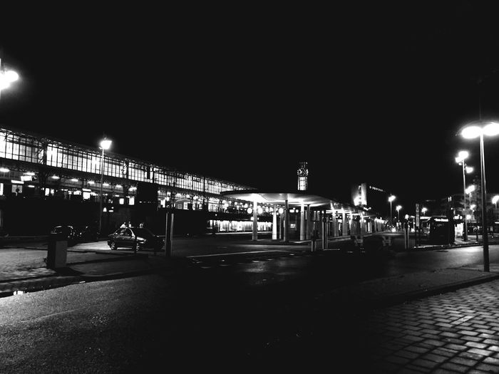 Night Illuminated Architecture Built Structure Transportation City Building Exterior Outdoors Train Station Bus Stop