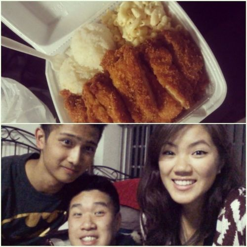 I LOVE YOU BOTH SO MUCH!!!! <3 Thanks Kent for helping me all night with my costume. Don't hate Batman. Hate Me. Thanks Karen for the Chicken Katsu! CRAVING STATISFIED!!! :) #BESTFRIENDS #HOMIES #FOR #LIFE #THANKYOU #BATMAN #GHETTO #TRIANGLES #CHICKENKAT Triangles Life For Batman Bestfriends Homies Ghetto Thankyou Chickenkatsu