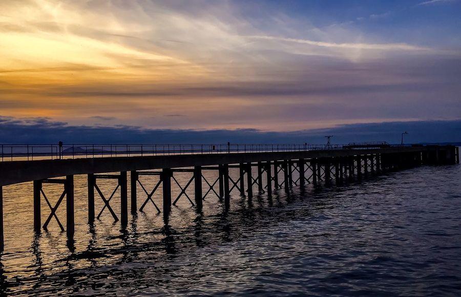 Sunset on the Pier Ocean Scotland Golden Hour