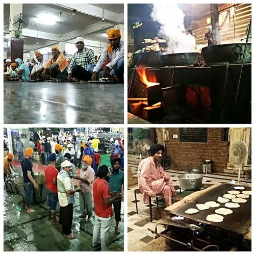 eating and walking around in the biggest Sikh Communitykitchen in the world.
