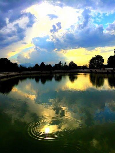 Water Reflection Sky Nature Lake Sunset