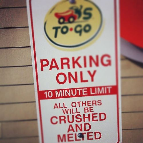I thought this was hilarious. Chilistogo Sign LOL Allotherswillbecrushedandmelted chilis yummy Togo awesome hilarious